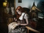 Myself sewing by Costurero-Real