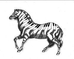 Zebra abstract by Toxic-waste-of-life