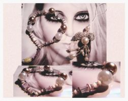 Secrets Bracelet and Pendant by karemelancholia