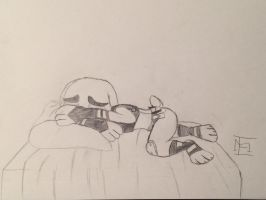 Tears of a bunny (Hand drawn fan made) by EJLightning007arts