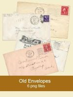 old envelope pngs by KingaBritschgi