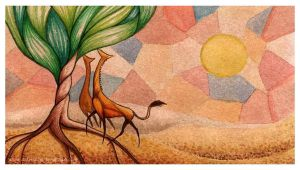 In the desert by Dalanatha