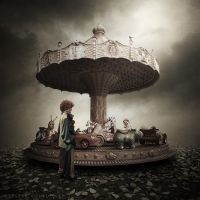 Clown and carousel by Alshain4
