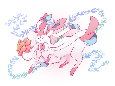 Dragonfruit Sylveon by of-airis