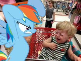 Rainbow Dash scares a child by DjVanessaPegasister