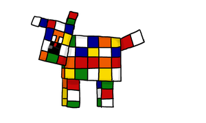Rubik's Cube le chien by lila79