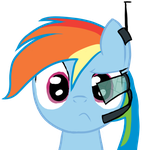 Rainbow Dash Confused Portrait FTNLR DAY16 by DarkFlame75
