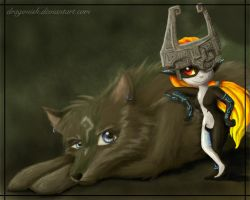 That Face...Link n Midna by dragonish