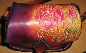 power rose bag by Artapologia