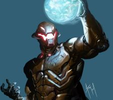 Marvel - Ultron - Digital speed paint by diego1a