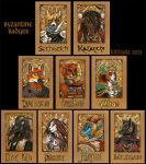 Byzantine Badges - Autumn 2013 by kittiara