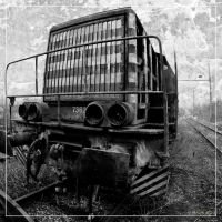 Diesel railway engine by 0-Photocyte
