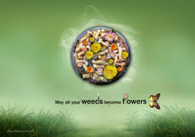 Weeds against flowers by FNIsa