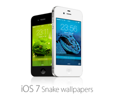 iOS 7 Snake Wallpapers by kamen911