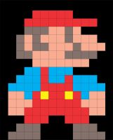 Mario 8 bits by avellajorge