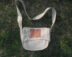 Linen bag with viking ornament embroidery by Glapsvidur