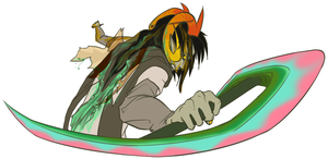 ohgod why did I color the weapon like that.... by bonsaiCatnip