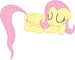 Fluttershy napping by transparentpony