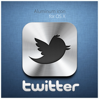 Twitter Aluminum icon by D1m22