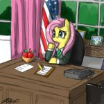 President Fluttershy by johnjoseco