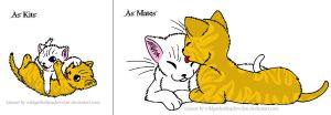 Icecloud and Lionblaze by lucymaggielover