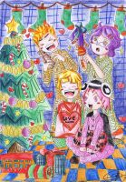 anime lovers underneath the christmas tree by bilox