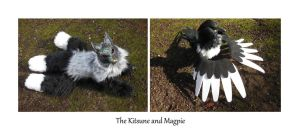 The Kitsune and Magpie by ZombieHun