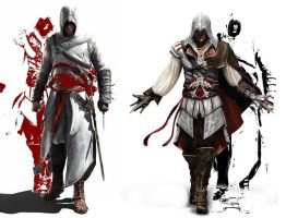 Altair and Ezio by minose400