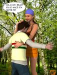 Lindsay Gives Cody A Reward 3D by ImfamousE