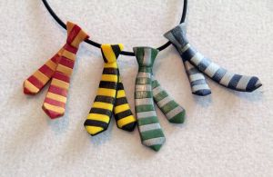Harry Potter Tie Pendant by spaceraptor