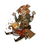 Anders and Ser Pounce-A-Lot by morteraphan