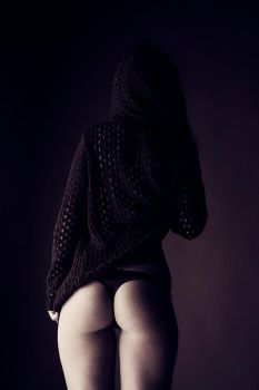 black hoodie and a bottom by athrawn