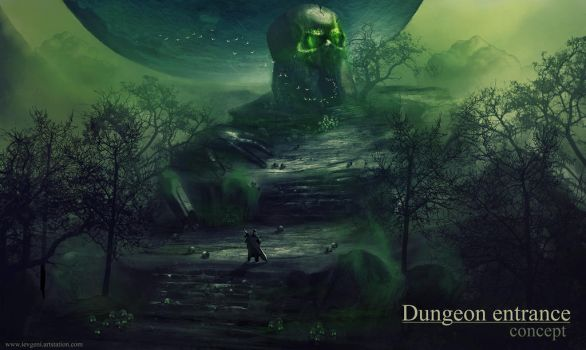 Dungeon entrance concept by iEvgeni