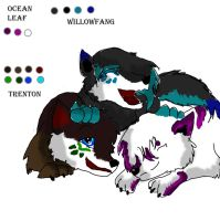 Willowfang+friends ref sheet by kleslie