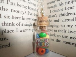 Mini Bottle Necklace Froot Loops by O-Monica-O