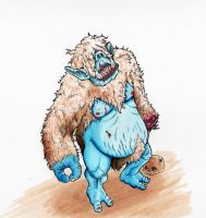 Dwarf Fortress: Blind cave troll ogre... by Quinmael