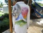 Painted jacket dreamscape _wearing by BlueOwlCandle