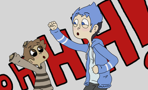 Mordecai and Rigby by SheepG0toHeaven