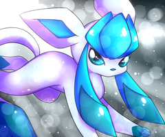 Glaceon Doodle by pinkfrilly