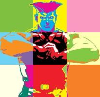 Street Fighter Guile Pop Art by DevintheCool
