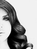 Lana Del Rey Pencil Portrait by mila242