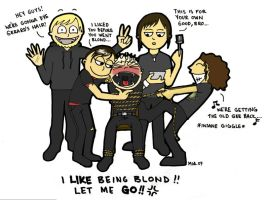 Dying Gerard's hair by ihni