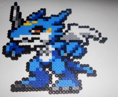 Exveemon Sprite Perler by Perler-Pop