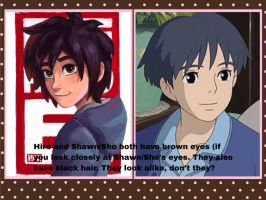 Comparisons between Shawn/Sho and Hiro by AdventureWinx