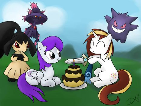 Backstitch's Birthday! by Vinailt