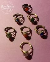Wire Wrapped Eye Rings by WireMoonJewelry