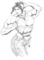 Punk rock female bodybuilder by dg89