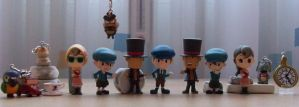 Professor Layton figurines by kenabe