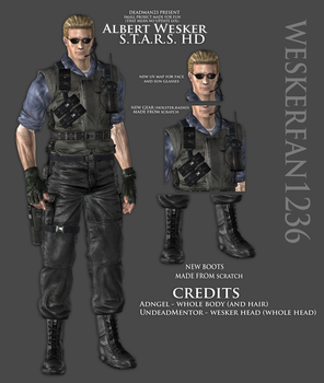 Albert Wesker Stars Hd Model by WeskerFan1236