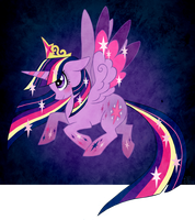 Twilight Sparkle (Rainbow power) by AlouNea